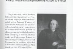 ks. R. Czarnowski,Rektor PMK ks. Aleksander Jełowicki jako mecenas kultury, tradycji oraz duszpasterstwa polskiego we Francji