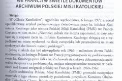 ks. R. Czarnowski, Przygotowanie do Milenium oraz obchody milenijne chrztu Polski wśród emigracji polskiej we Francji w świetle dokumentów Archiwum Polskiej Misji Katolickiej