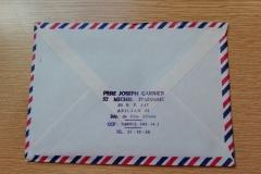 List ks. Josepha Garniera, francuskiego misjonarza na Wybrzeżu Kości Słoniowej.