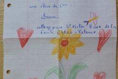 List uczniów 6 klasy szkoły św. Wiktora w Valence.